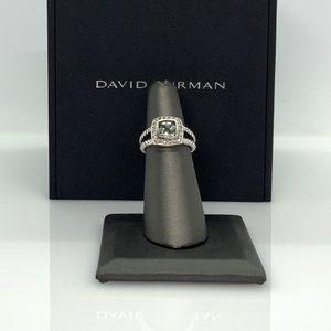 David Yurman Petite Albion Ring with Prasiolite